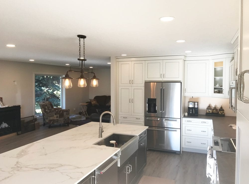 Image of a Kitchen and Living room in a Complete Home Rebuild by Exquisite Electric