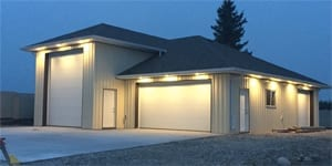 image of exterior lighting on a garage by exquisite electric