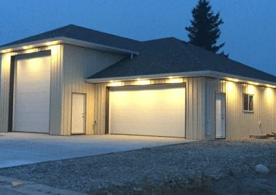 Exterior Lighting on the Shop Project