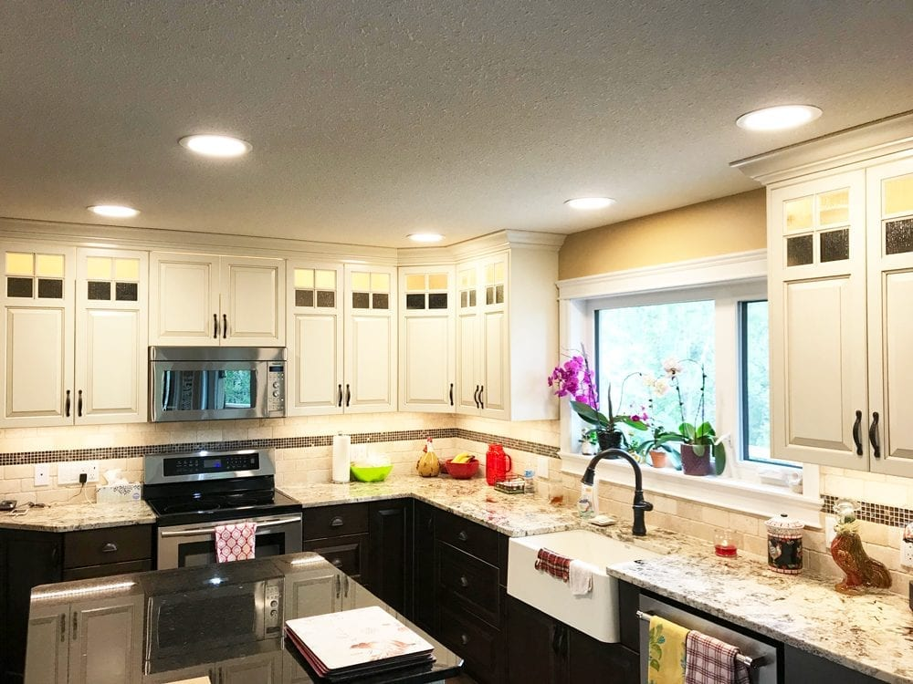 Image of Lighting and Electrical Work in a Full Kitchen Renovation