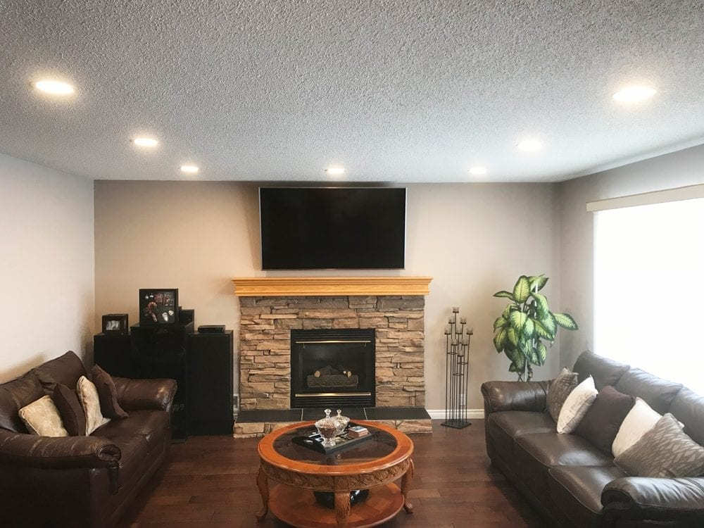 Image of Living Room LED Potlights installed by Exquisite Electric