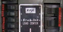 image of an FPE Federal Pioneer stab-lok load center