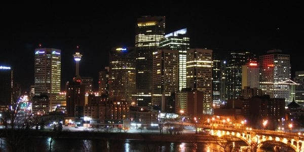 image of emergency electrician service area city of calgary at night
