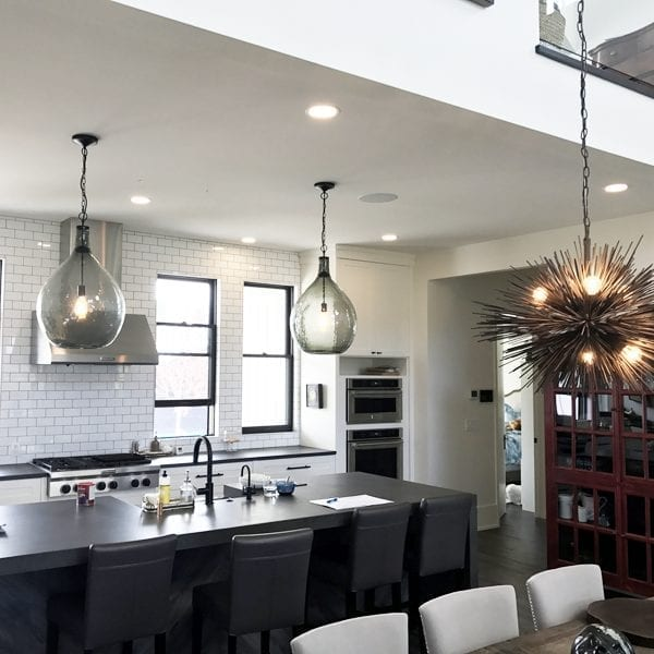 image of Exquisite Electric Residential Home Electrical Contractors Finished Home Kitchen Lighting and Wiring